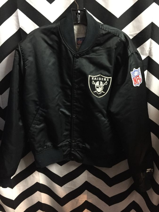 huge selection of 57710 a36c3 NFL LOS ANGELES RAIDERS STARTER JACKET W/ LETTERS ON BACK