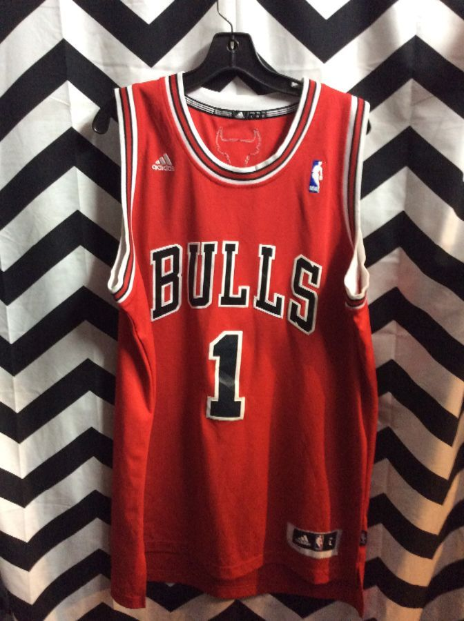 2fa2570bb ADIDAS NBA CHICAGO BULLS JERSEY DERRICK ROSE  1 » Boardwalk Vintage