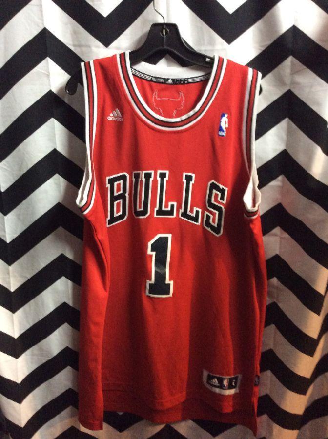 buy online af5fd b0282 NBA CHICAGO BULLS JERSEY DERRICK ROSE #1