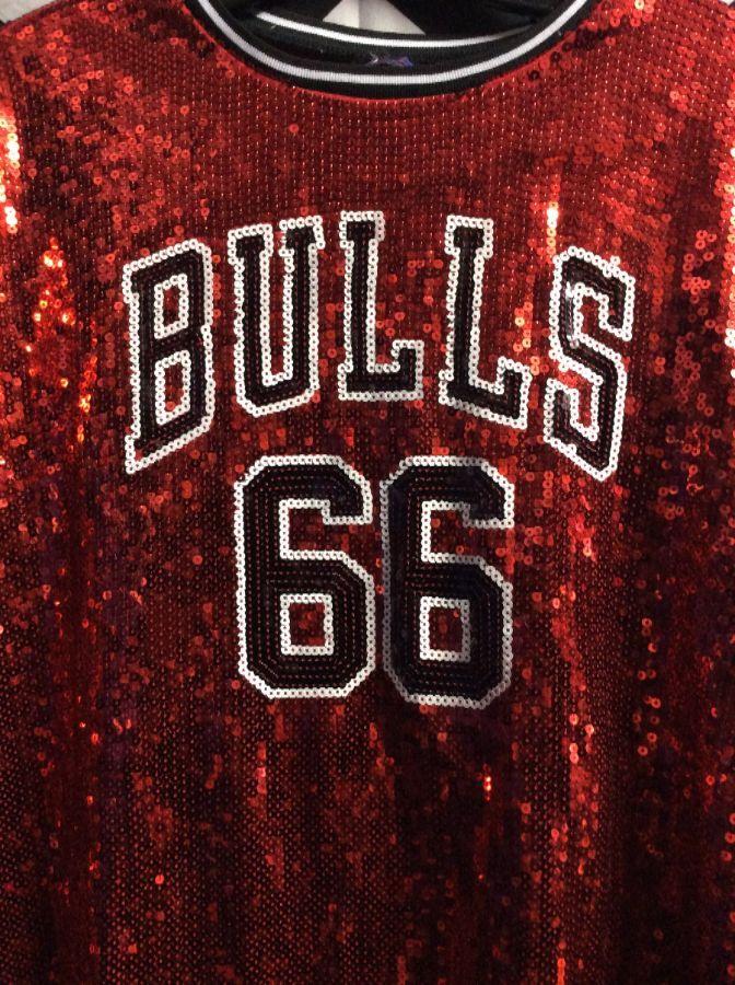 new product 7b9d0 ffb4c chicago bulls sequin jersey