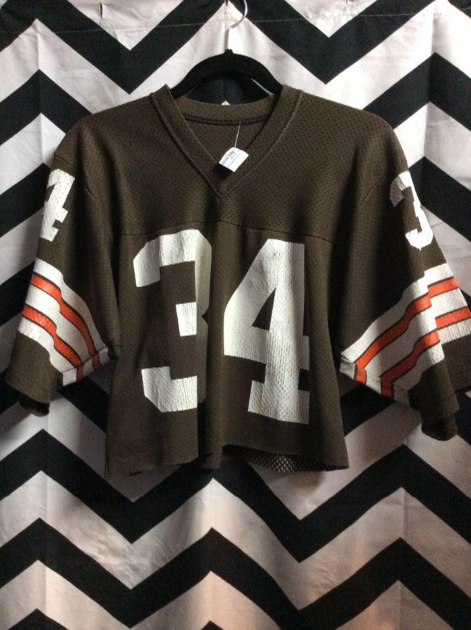NFL Cleveland Browns  34 Cropped Top Jersey » Boardwalk Vintage 8bafc7fb7