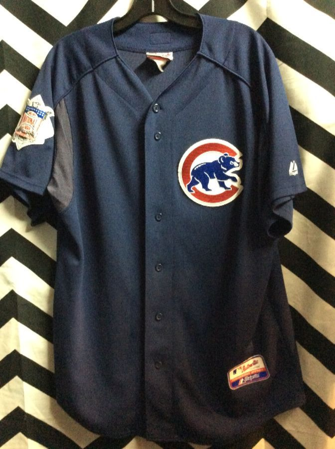 new style f4a41 21168 CHICAGO CUBS BASEBALL JERSEY FRONT PATCH LOGO