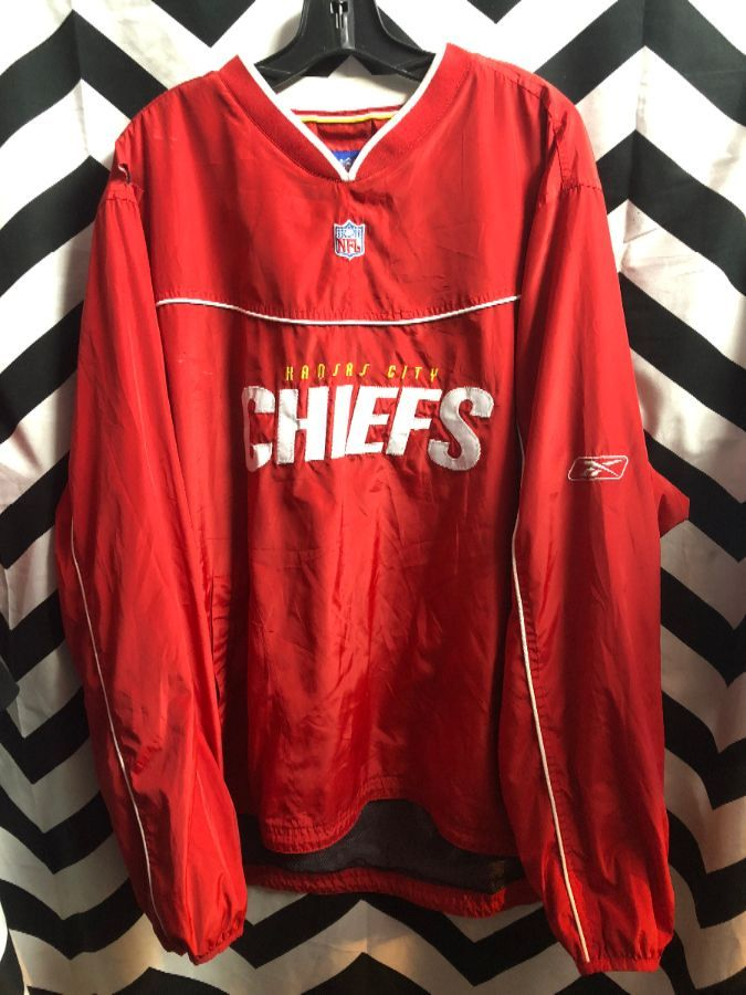 differently bb3ab 5eef1 PULLOVER JACKET KANSAS CITY CHIEFS NFL REEBOK