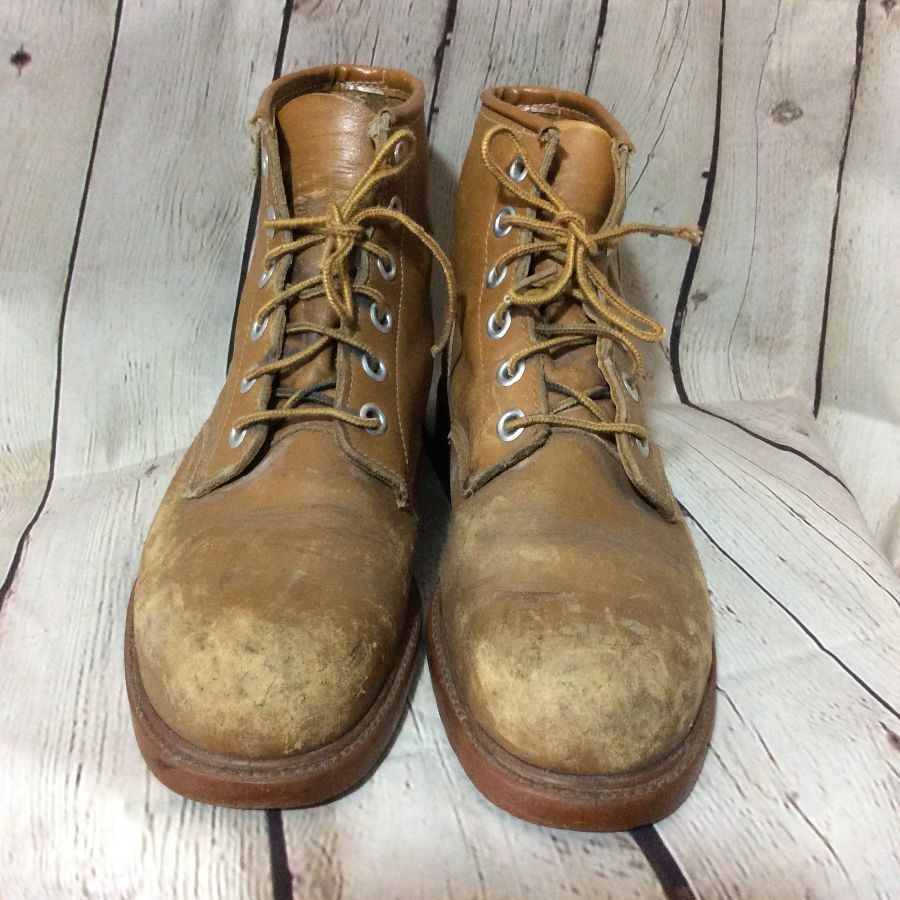 LACE-UP STEEL TOE WORK BOOTS SOFT