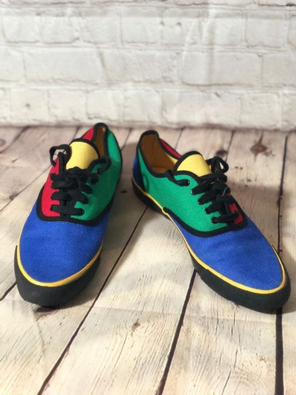TENNIS SHOES COLOR-BLOCK W/ PRIMARY COLORS