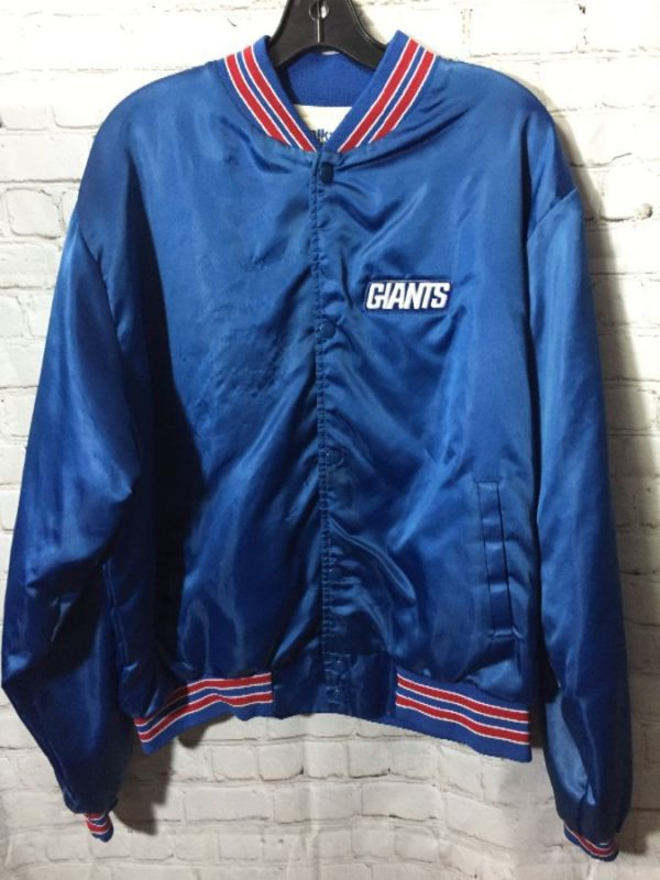product details: NFL NEW YORK GIANTS SATIN BUTTON UP JACKET photo