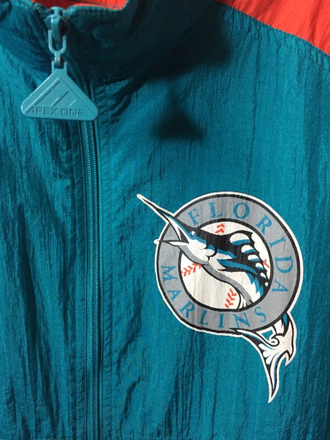 huge selection of a088b af318 RETRO MLB FLORIDA MARLINS ZIP-UP WINDBREAKER