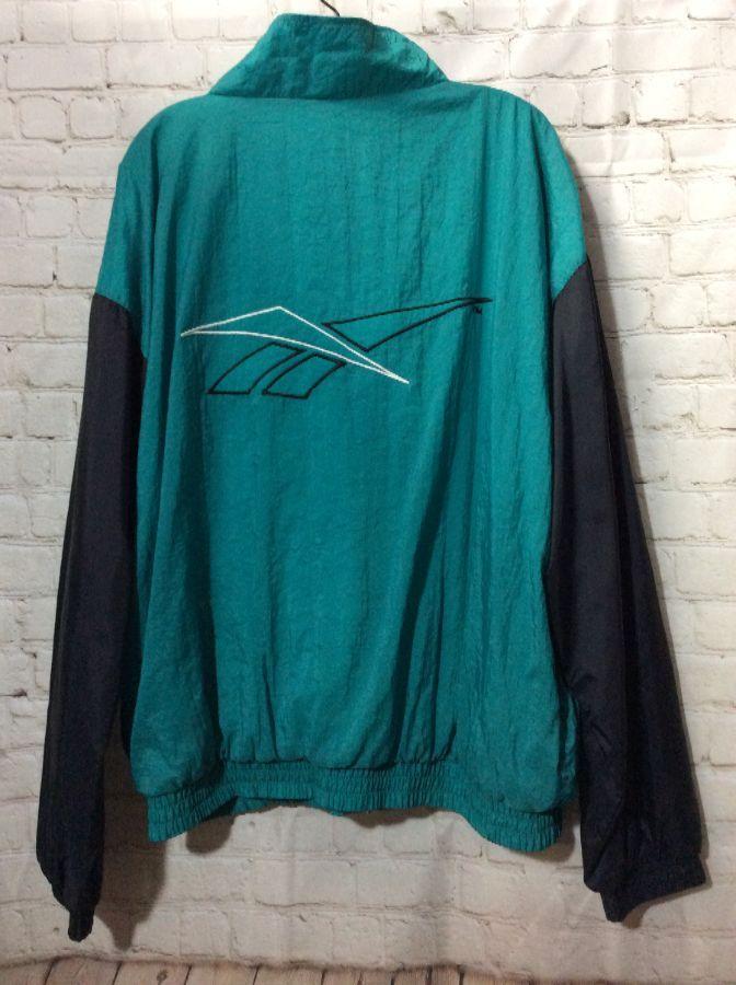 Black reebok Windbreaker Embroidered logo jacket