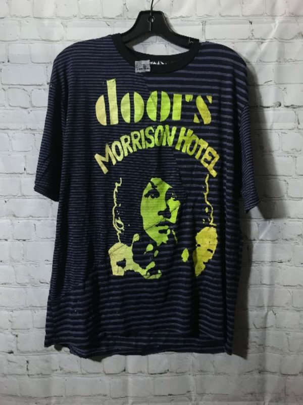 RINGER T-SHIRT W/ JIM MORRISON BURNOUT DESIGN