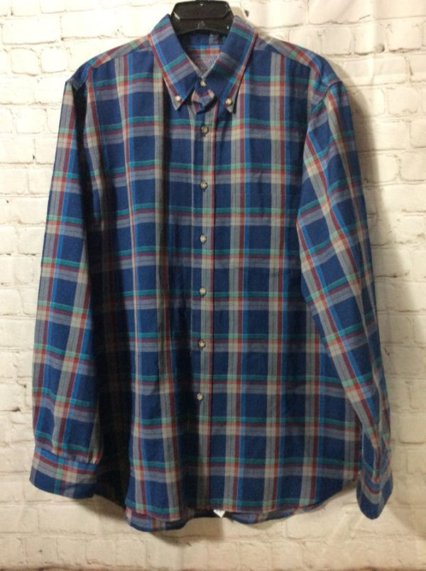 PLAID PENDLETON LIGHT WEIGHT WOVEN WOOL SHIRT