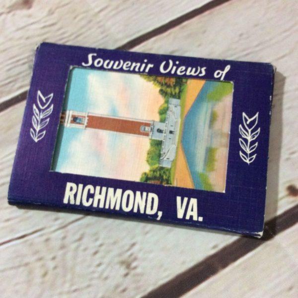 product details: VINTAGE SOUVENIR CARD PACK - RICHMOND - VA. photo