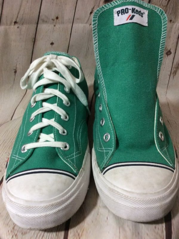 product details: CLASSIC PRO KEDS GREEN CANVAS LOW TOP SHOES photo