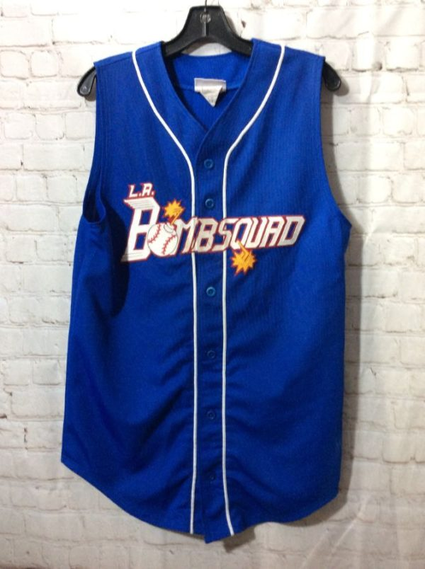 product details: SLEEVELESS BASEBALL JERSEY L.A. BOMB SQUAD photo
