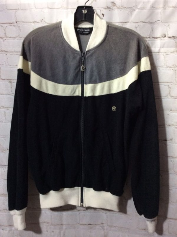 product details: RETRO PIERRE CARDIN ZIP-UP FLEECE JACKET photo