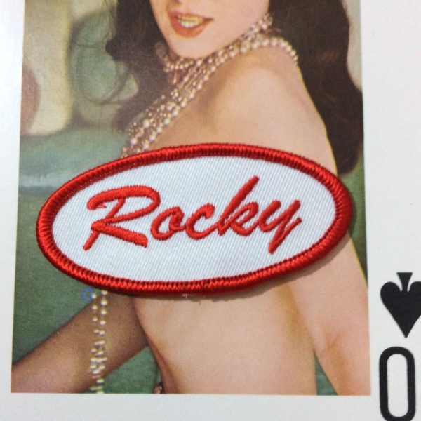 product details: BW PATCH - ROCKY OVAL NAME TAG PATCH photo
