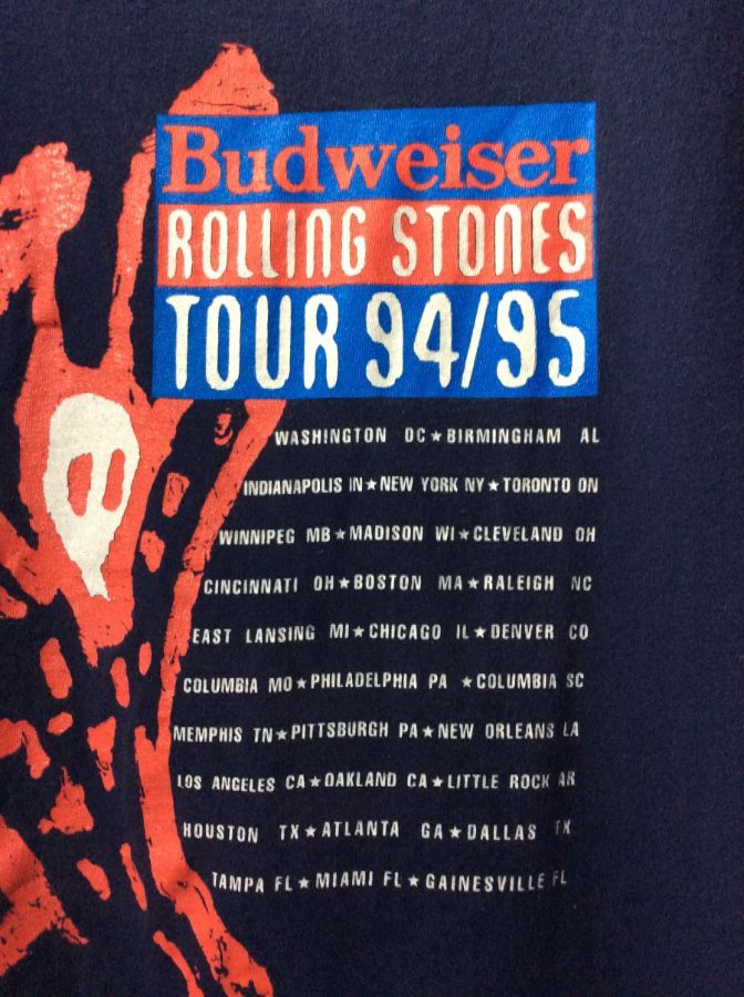 effa04ea1fb T-SHIRT CUT-OFF SLEEVES ROLLING STONES TOUR 94 95 » Boardwalk Vintage