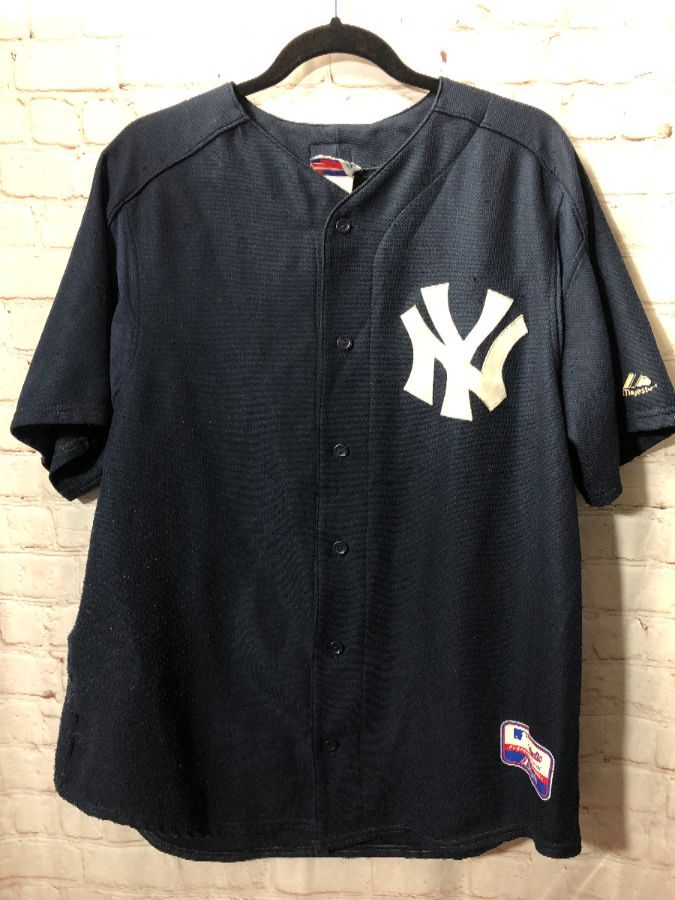 buy online 7bc39 42086 NY YANKEES SOLID COLOR MAJESTIC BASEBALL JERSEY