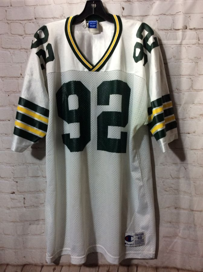 best sneakers eb563 90a3c GREEN BAY PACKERS NFL FOOTBALL JERSEY #92 REGGIE WHITE