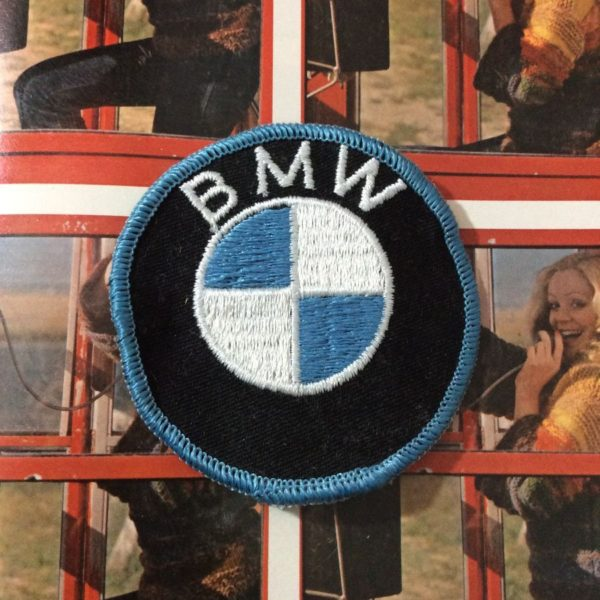 product details: EMBROIDERED PATCH - BMW EMBLEM - ROUND SHAPED photo