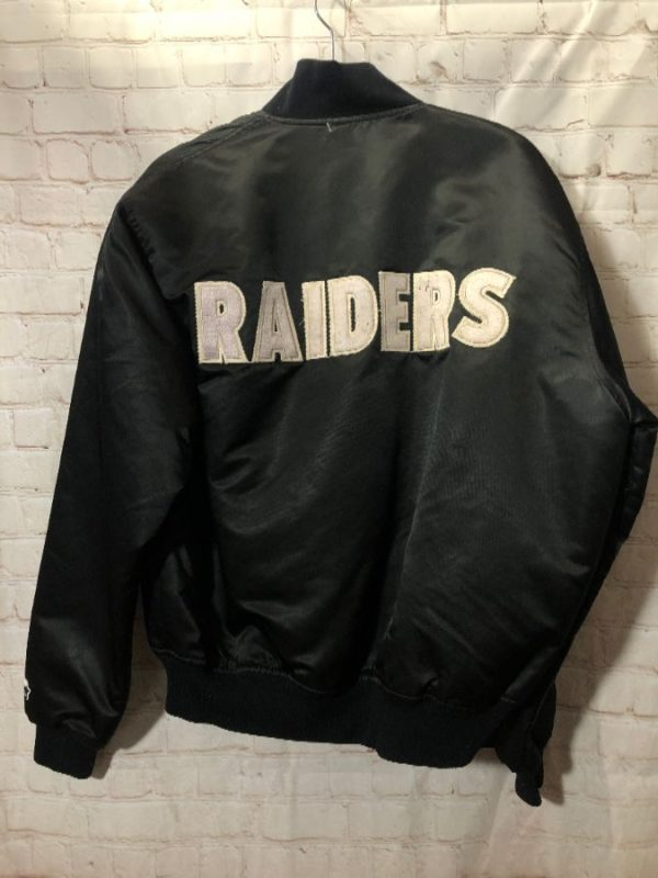 product details: VINTAGE RAIDERS STARTER JACKET CLASSIC BACK LETTERING AS-IS photo