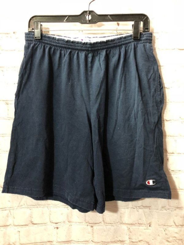 SOLID COTTON CHAMPION BASKETBALL SHORTS WITH ELASTIC WAIST