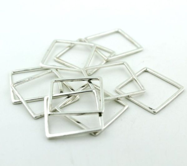 product details: SQUARE RING- STERLING SILVER 925 photo
