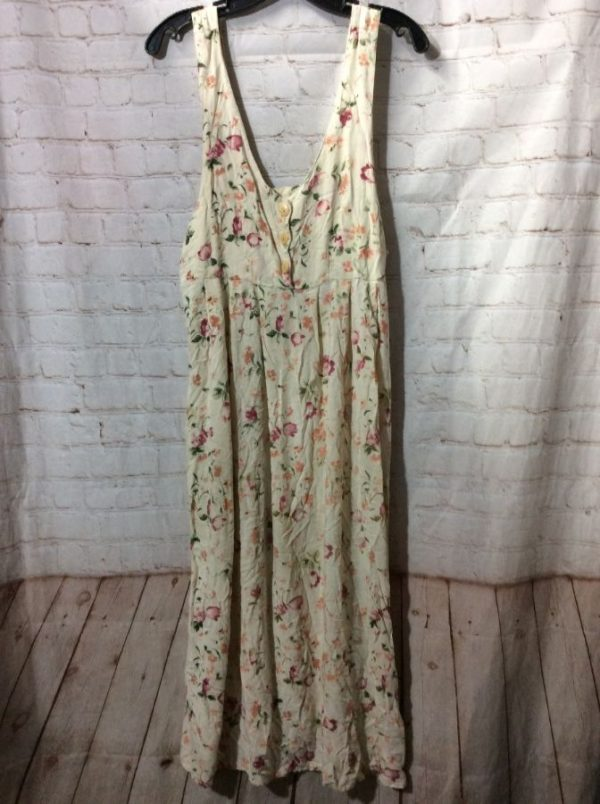 product details: SUMMER COTTON DRESS OFF WHITE FLORAL PATTERN photo