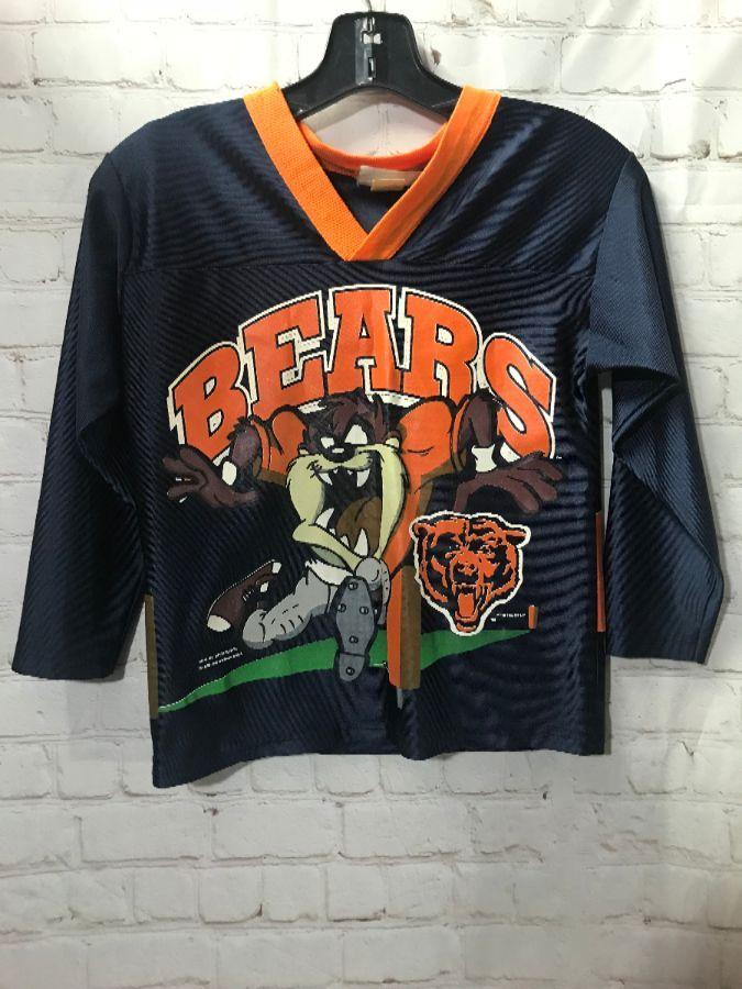 best website f3b3d d4d71 CHICAGO BEARS CROPPED FOOTBALL JERSEY W/ MASCOT