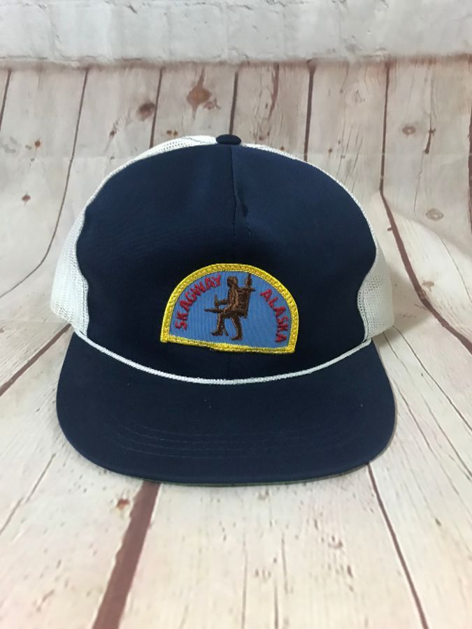 VINTAGE SKAGWAY ALASKA PATCH TRUCKER HAT » Boardwalk Vintage 079e3fa5a164