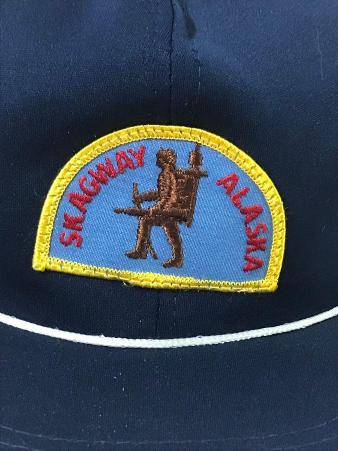 VINTAGE SKAGWAY ALASKA PATCH TRUCKER HAT » Boardwalk Vintage f3e5856a39da