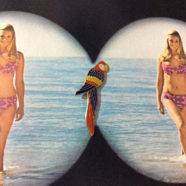 BW PIN-  Vintage Parrot Macaw Enamel Pin 318