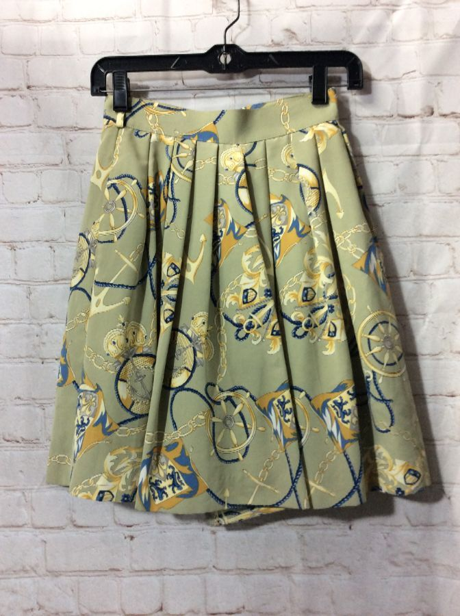 aa811a6f1d PLEATED HIGH WAISTED SHORTS BAROQUE PRINT » Boardwalk Vintage