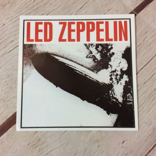 LED ZEPPELIN W/ HINDENBURG GRAPHIC STICKER