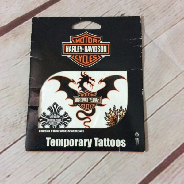 HARLEY DAVIDSON PACKAGE OF TEMPORARY TATTOOS