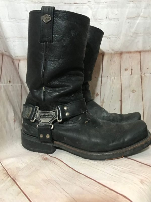 HARLEY DAVIDSON LEATHER SQUARE TOE BOOTS
