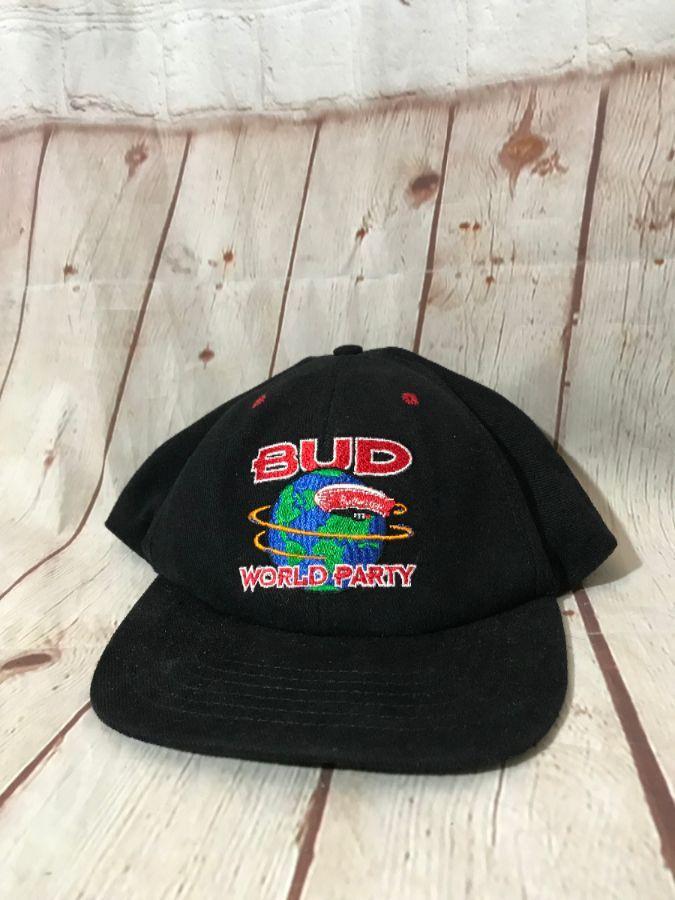 1daf3b9416d BUD WORLD PARTY DAD HAT » Boardwalk Vintage