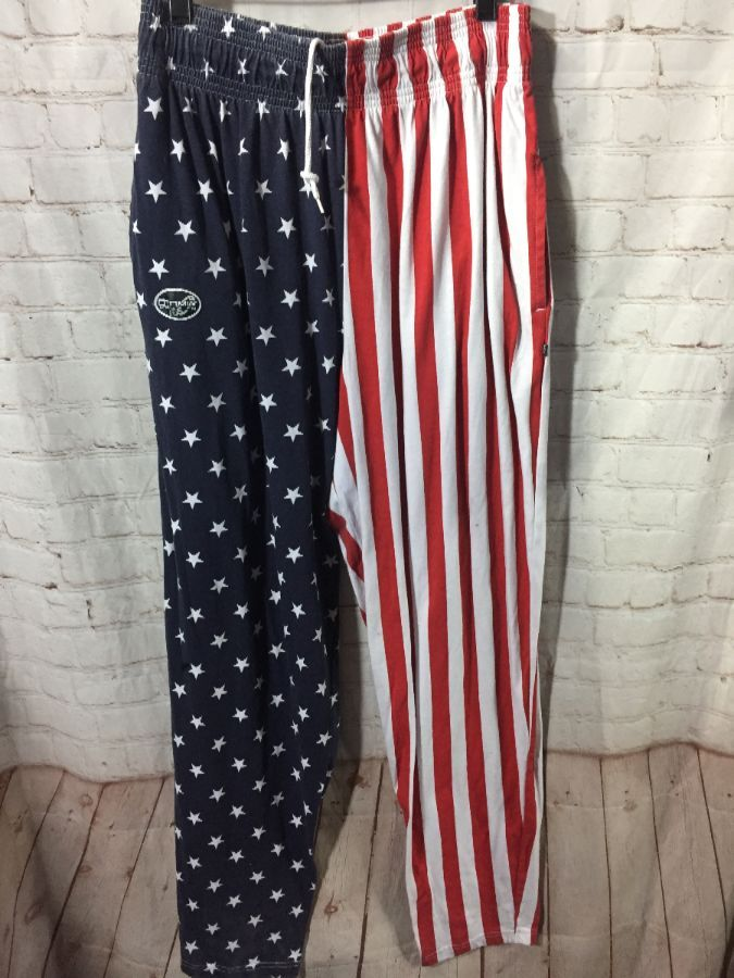 wide range top brands On Clearance AMERICAN FLAG DESIGN COTTON MC HAMMER PANTS