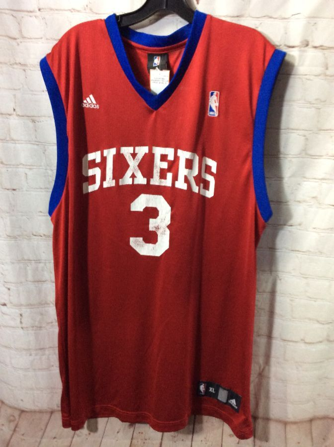 sports shoes ee1fd ddeb6 NBA PHILADELPHIA 76ER'S #3 IVERSON BASKETBALL JERSEY