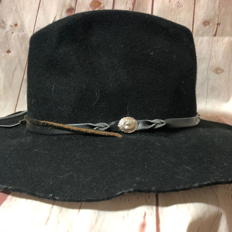 9efe52df077 EDDY S BROS. WOOL WESTERN HAT W  LEATHER   CONCHOS BAND » Boardwalk ...