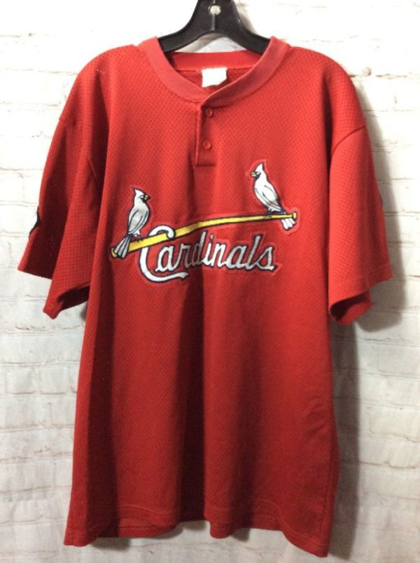 ST. LOUIS CARDINALS #12 BASEBALL JERSEY W/ ARM PATCHES