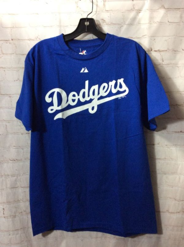 product details: MLB LOS ANGELES DODGERS 1/4 BUTTON-UP NECK T-SHIRT photo