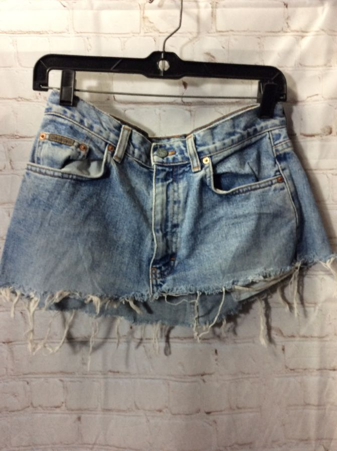 lace up in search for original best authentic DISTRESSED DENIM MINI SKIRT SUPER SHORT