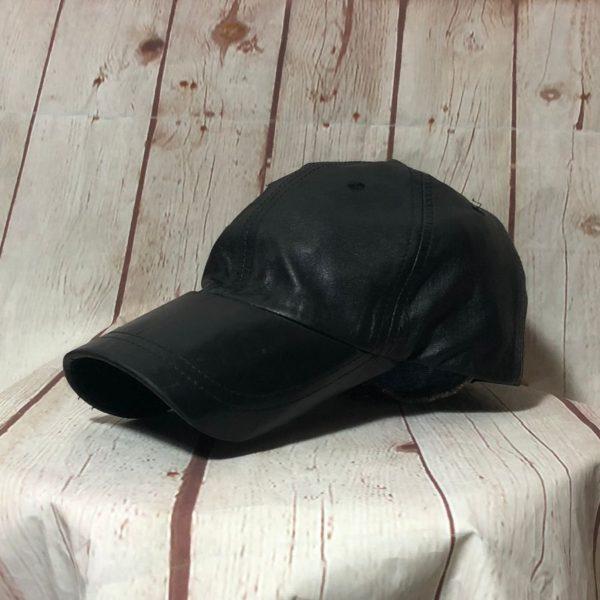 product details: CLASSIC VINTAGE LEATHER CAP W/ CURLED BRIM photo