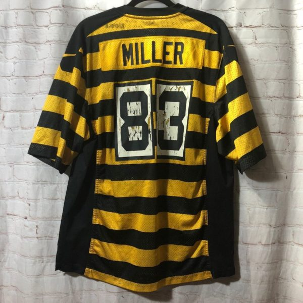 NFL PITTBURGH STEELERS #83 MILLER THROWBACK JERSEY