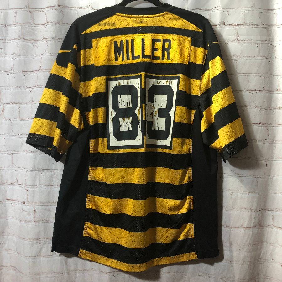 Nfl Pittburgh Steelers 83 Miller Throwback Jersey