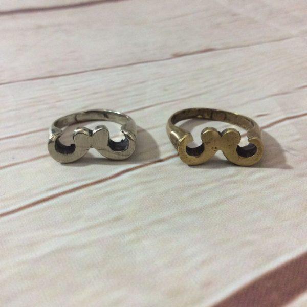 product details: HANDLEBAR MOUSTACHE RING GOLD photo