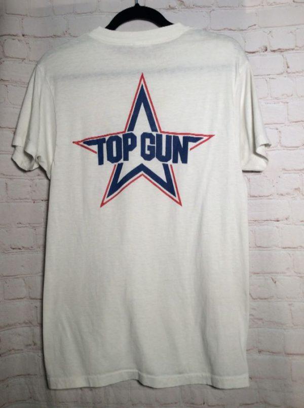 TOP GUN T-SHIRT W/ LEFT CHEST DESIGN & FULL BACK LOGO