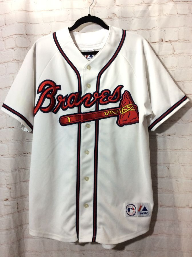 MLB ATLANTA BRAVES MAJESTIC BASEBALL JERSEY » Boardwalk Vintage 2c61473be5bb
