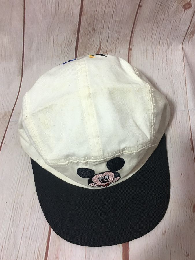 EMBROIDERED MICKEY MOUSE 5-PANEL ELASTIC-BACK CAP » Boardwalk Vintage 34ffe8ef31c1
