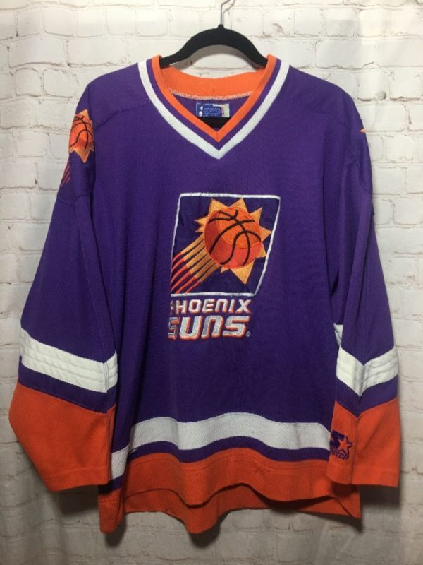NBA PHOENIX SUNS HOCKEY JERSEY WITH CHEST AND SHOULDER EMBROIDERY